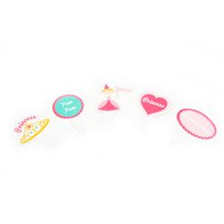 Letrero Pretty Princess para Cupcake en Set de 40 Piezas Daisy Darcy