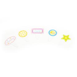 Letrero Sweet Surprises para Cupcake en set de 40 Piezas Daisy Darcy