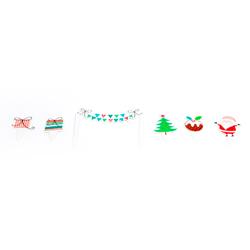 Letrero Jolly Santa para Cupcake en Set de 40 Piezas Daisy Darcy