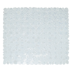 Tapete de Caucho para Baño con Diseño de Piedras 54x54cm