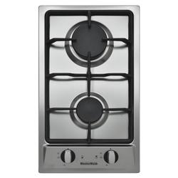 Cocina a Gas con 2 Quemadores  de Acero Inoxidable 29x50cm Mastermaid