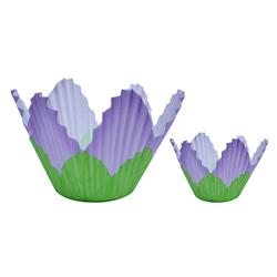 Pirutín Flor Grande Lila en Set de 24 Piezas Wilton