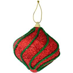 Bola Navideña Colgante Cebolla Rojo Verde