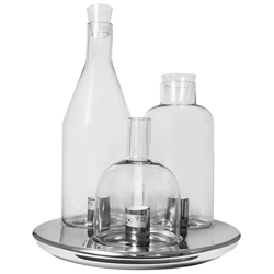 Lámpara de Vidrio con Diseño de Botellas para Mesa