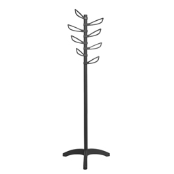 Colgador de Pedestal Yaprak Negro