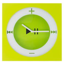 Reloj Decorativo Naranja y Verde