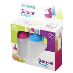Envase para Salsas Togo de 35ML en Set de 3 Piezas Sistema