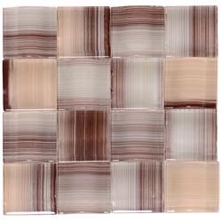 Mosaico de Cristal Trenzas Café Beige 24.8x24.8cm
