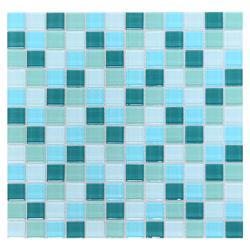 Mosaico de Cristal Mix Turquesa 30x30cm (0.09)