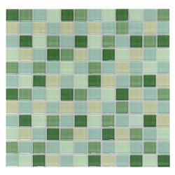 Mosaico de Cristal Mix Verde 30x30cm (0.09)