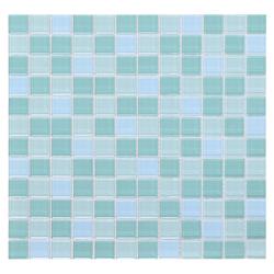 Mosaico de Cristal Mix Turquesa Claro 30x30cm (0.09)