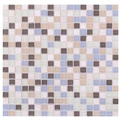 Mosaico de Cristal Mármol Mini Café Gris  30x30cm