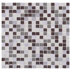 Mosaico de Cristal Mármol Mini Negro Café Gris 30x30cm