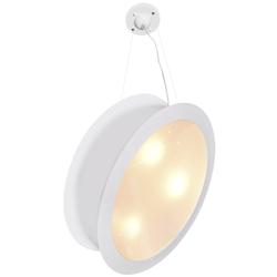 Lámpara Colgante Blanca con Doble Pantalla y 3 Boquillas