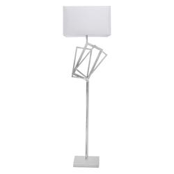 Lámpara de Piso con  Pantalla  Blanca