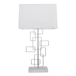 Lámpara para Mesa  con  Pantalla Blanca  y 1 Boquilla