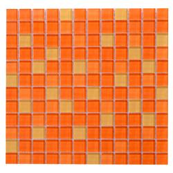 Mosaico de Cristal Mix  Naranja 30x30cm (.09)
