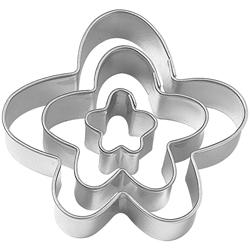 Cortador de Fondant con Diseño de Flores en Set de 3 Piezas Wilton