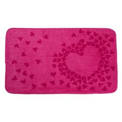 Alfombra con Diseño de Corazón Rosado 45x70cm Casserina