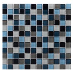 Mosaico de Cristal Mix  Azul  Oscuro 30x30cm (.09)