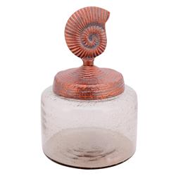 Envase de Vidrio con Tapa Caracol