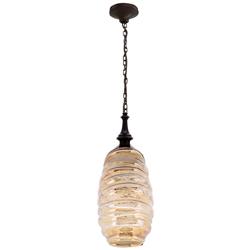 Lámpara Colgante de Vidrio Ámbar