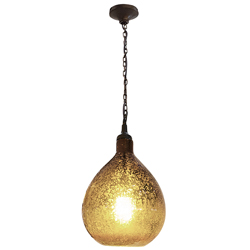 Lámpara Colgante de Vidrio Vino