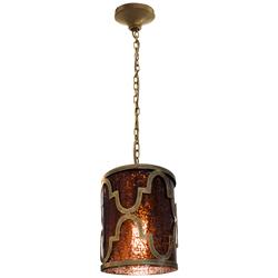 Lámpara Colgante de Vidrio Vino Oro