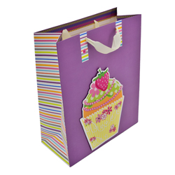 Funda de Regalo Cupcake Lila