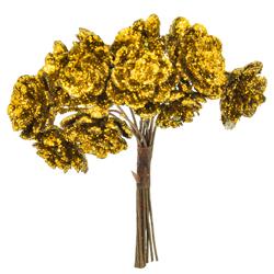 Pick Flores Doradas 9cm