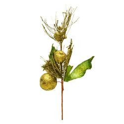 Rama con Manzanas Dorada 57cm