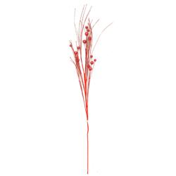 Rama Escarchada Roja 100cm