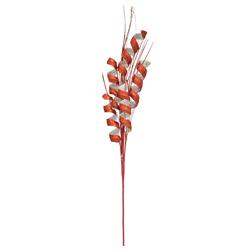 Rama Navideño Espiral Rojo con Blanco 72cm