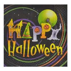 Servilleta de Papel Happy Halloween 25x25cm 20 Unidades