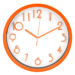 Reloj de Pared Naranja Blanco Casa Bella