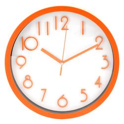 Reloj de Pared Naranja Blanco Casa Bella