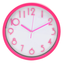 Reloj de Pared Fucsia Blanco Casa Bella