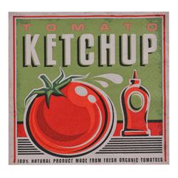 Servilleta de Papel Tomato Ketchup 33x33cm 20 Unidades