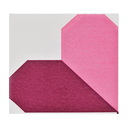 Servilleta Origami Corazón Lila 40x40cm 12 Unidades
