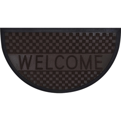 Alfombra Welcome Semicircular de Caucho  75x45cm