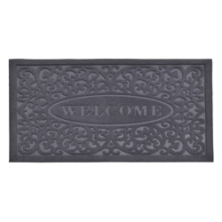 Alfombra de Caucho Welcome Gris   75x45cm