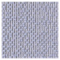 Mosaico de Cristal Cuarzo Dot Gris 6mm 30x30cm