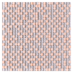 Mosaico de Cristal Cuarzo Dot  Peach  6mm 30x30cm