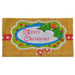 Alfombra con Diseño Merry Christmas para Exterior 75x45cm