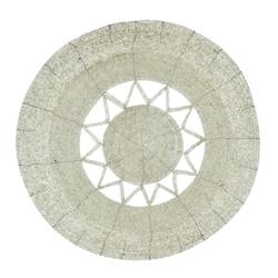 Individual con Canutillos Plata Estrella  35cm