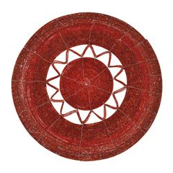 Individual con Canutillos Rojo Estrella  35cm