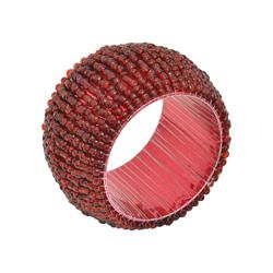 Anillo Porta Servilleta Rojo con Canutillo en Set de 4 Piezas