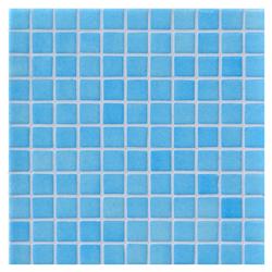 Mosaico de Vidrio Niebla Azul Claro 31.5x31.5cm (0.99)