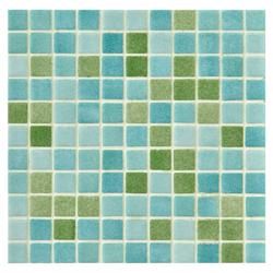 Mosaico de Vidrio Niebla Mix Verde 31.5x31.5cm (.09)