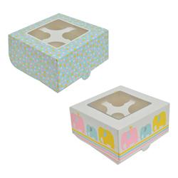 Caja para 4 Cupcake Elephant Parade Daysi Darcy